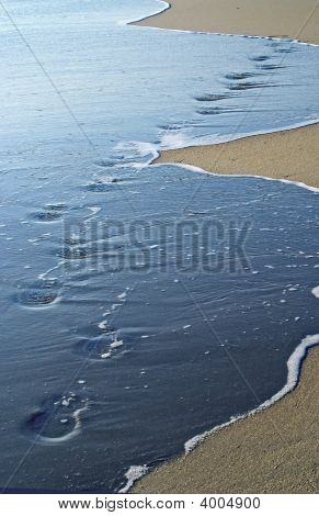 Foot Prints In Tide