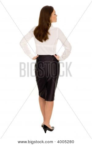 Businesswoman, Rear View