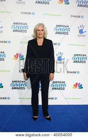 LOS ANGELES - DEC 7:  Glenn Close arrives to the 2012 American Giving Awards at Pasadena Civic Center on December 7, 2012 in Pasadena, CA
