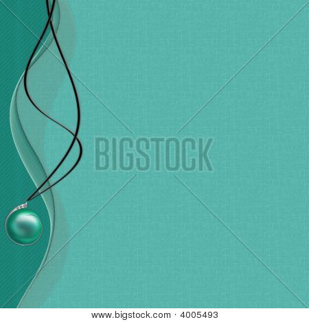Card With Green Pearl Coulomb For Design