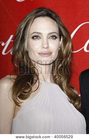PALM SPRINGS, CA - JAN 7: Angelina Jolie at the 23rd Annual Palm Springs International Film Festival Awards Gala at the Palm Springs Convention Center on January 7, 2012 in Palm Springs, California