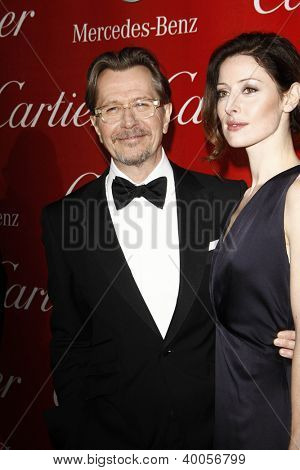 PALM SPRINGS, CA - JAN 7: Gary Oldham; wife Alexandra Edenborough at the 23rd Annual Palm Springs International Film Festival Awards Gala on January 7, 2012 in Palm Springs, California