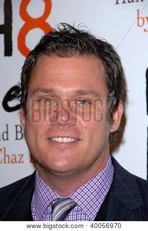 LOS ANGELES - DEC 12:  Bob Guiney arrives to the NOH8 4th Anniversary Party at Avalon on December 12, 2012 in Los Angeles, CA