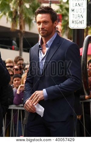 LOS ANGELES - DEC 13:  Hugh Jackman at the Hollywood Walk of Fame ceremony for Hugh Jackman at Hollywood Boulevard on December 13, 2012 in Los Angeles, CA