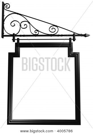 Isolated Blank Pub Sign