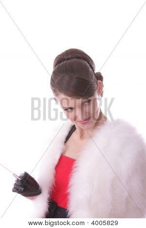 Elegant Girl With Cigarette