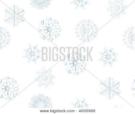 Copos de nieve sin costura