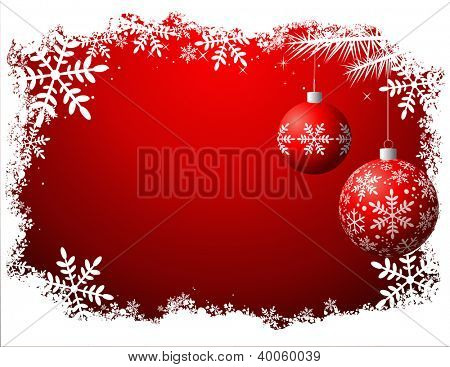 Christmas background, vector file - No transparency