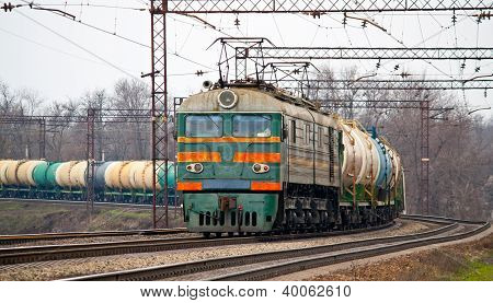 Freight Train With Petroleum