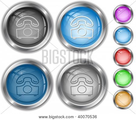 Old phone. Raster internet buttons. Vector version is in portfolio.