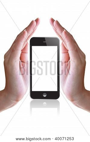 Smart Phone And Hand
