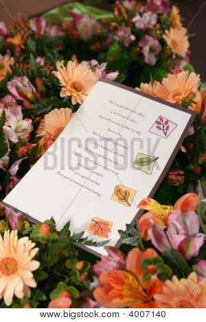 Wedding Flowers & Program