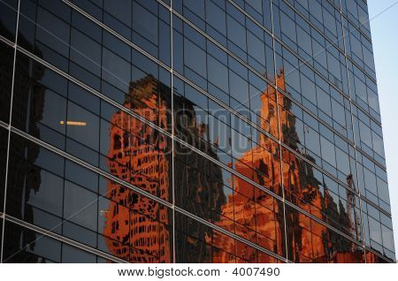 Reflections Of Office Buildings