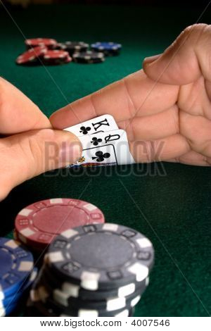 Poker Peek - King And Queen Of Clubs