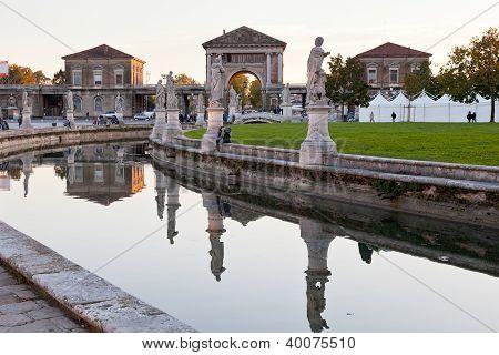 Canal On Piazza Of Prato Della Valle, Padua