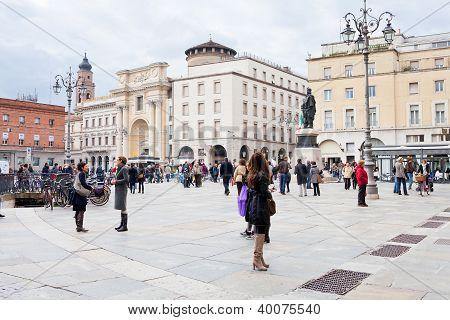 Piazza Garibaldi en Parma, Italia