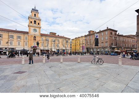 View Of Piazza Garibaldi In Parma, Italy