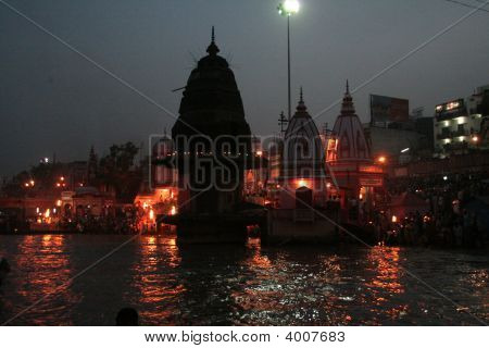 River Ganga By Night