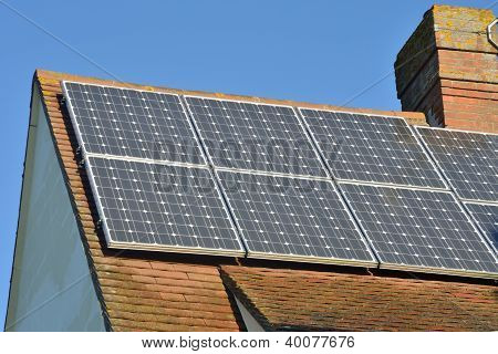 Solar panels of roof