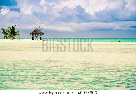 Beautiful Tropical Lagoon on a windy day