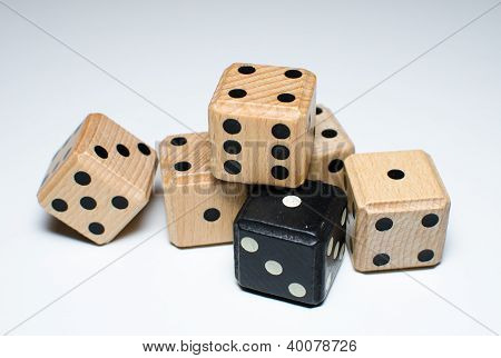 black and white dice