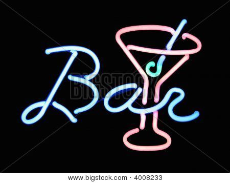 Neon Bar Cocktail Sign