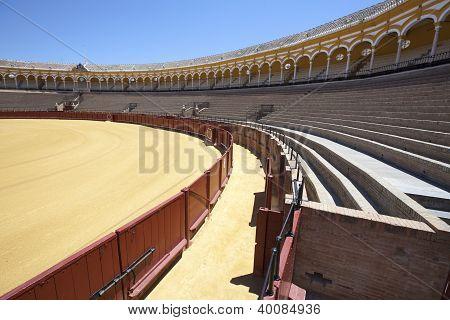Bullring (plaza De Toros) In Seville