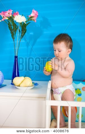 Baby Eating Fruits