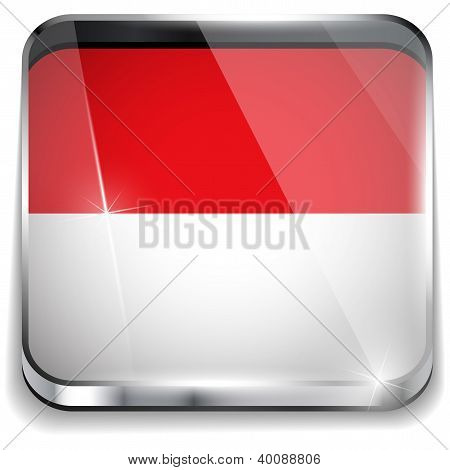 Monaco Flag Smartphone Application Square Buttons