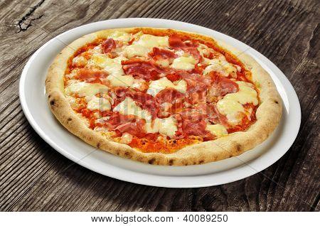 Pizza With Ham And Mozzarella