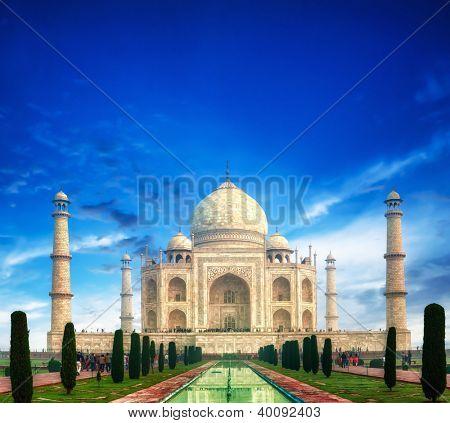 Taj Mahal Indian Famous Temple