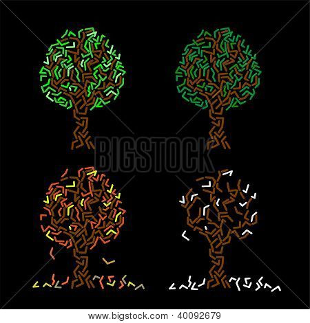 Resumen de árbol - cuatro estaciones