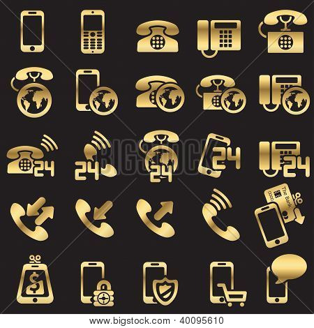 set of phone icons