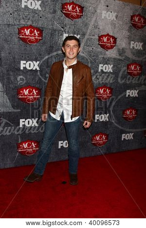 .LOS ANGELES - DEC 10:  Scotty McCreery arrives to the American Country Awards 2012 at Mandalay Bay Resort and Casino on December 10, 2012 in Las Vegas, NV