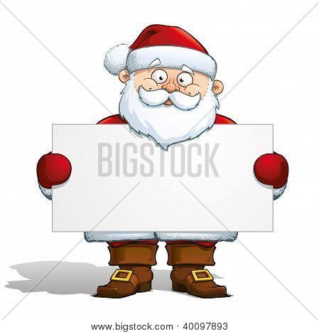Santa Holding A Label