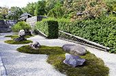 image of shogun  - Japanese zen gardens in nijo castle - JPG