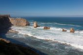 Coast In Liencres, Cantabria, Spain