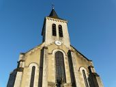 pic of poitiers  - Catholic church near Poitiers France on a sunny day - JPG