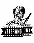 Veterans Day Banner - Retro Clipart Illustration