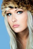 Blonde With A Furry Hat poster