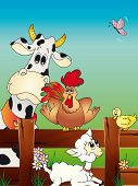 stock photo of the lost sheep  - a illustration of funny animal farm cartoon - JPG
