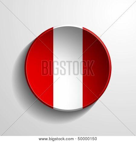 Peru 3D Round Button