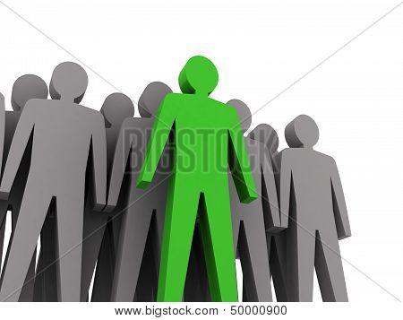 Teamwork concept 3D illustration