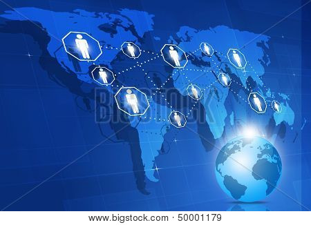 Global Network Business Background