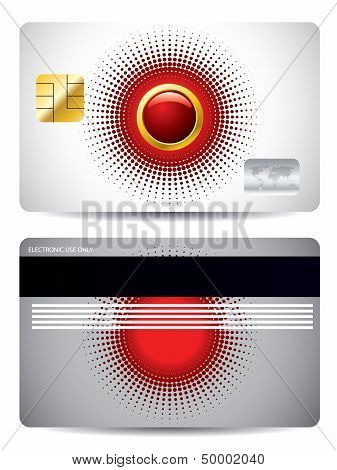 Red And Gray Credit Card