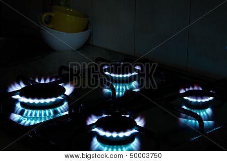 Kitchen Gas Flames