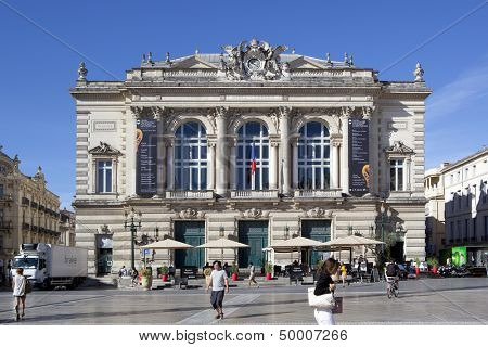 MONTPELLIER, FRANCE - AUGUST 14: Opera national de Montpellier on august 14, 2013 in Montpellier. Built in the Italian style and opened in 1888