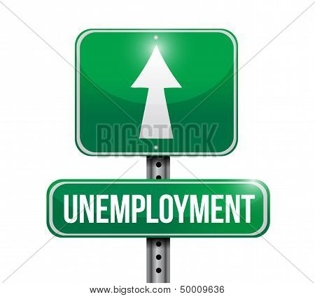 Unemployment Road Sign Illustration