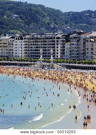 Beach In San Sebastian, Spain