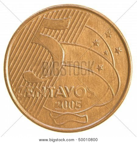 5 Brazilian Real Centavos Coin
